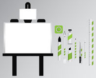 Trousse d'outils d'art Photographie stock libre de droits