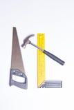 Trousse d'outils de charpentier Images stock