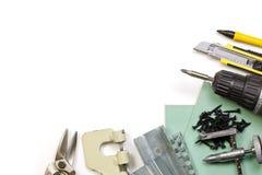 Trousse d'outils de mur de pierres sèches Photos stock