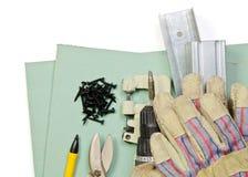 Trousse d'outils de mur de pierres sèches Photo libre de droits