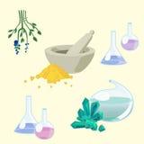 Trousse d'outils du chimiste Photo libre de droits