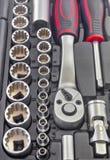 Trousse d'outils mécanique de peu Photo stock