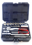 Trousse d'outils mécanique de peu d'isolement sur le fond blanc Photos stock