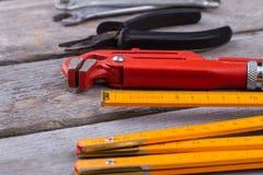 Trousse d'outils pour la r?novation de maison photos stock