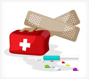 Trousse médicale A Photos libres de droits