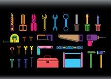 Trousses à outils colorées Image libre de droits
