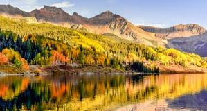 Trout湖水彩 库存图片