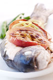 Trout with Apple Royalty Free Stock Photo