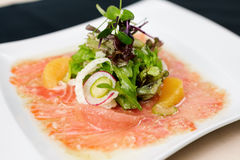 Trout carpaccio Stock Image