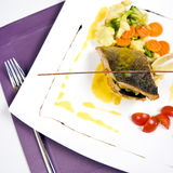 Trout dish Royalty Free Stock Images