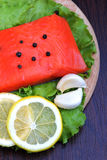Trout fillet. Close up Royalty Free Stock Images