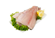 Trout fillet with skin Royalty Free Stock Photography
