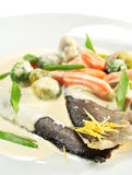 Trout Fillet with Vegetable Stock Photos