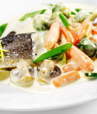 Trout Fillet with Vegetable royalty free stock images