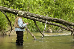 Trout fisherman Royalty Free Stock Photography