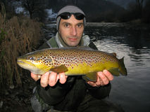 Trout fishing royalty free stock photography