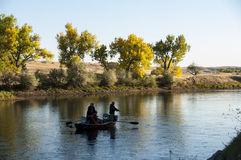 Trout Fishing Derby On North Platte River Wyoming Royalty Free Stock Photography