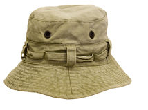Trout fishing hat isolated Royalty Free Stock Photo