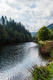 Trout fishing lake Stock Photo