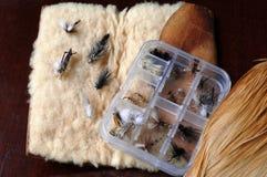 Trout Flies Stock Photo