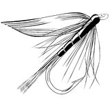 Trout fly Vector Illustration Stock Photos