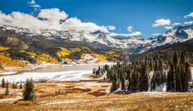 Trout Lake Colorado in Autumn Stock Photography