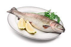 Trout with lemon Royalty Free Stock Images