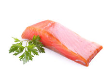 Trout meat with parsley Stock Photo