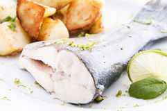 Trout with potato Stock Images