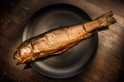Trout smoked fish Royalty Free Stock Photos