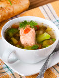 Trout soup Royalty Free Stock Photography