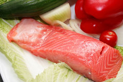 Trout And Vegetables Stock Images