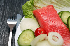Trout And Vegetables Royalty Free Stock Images