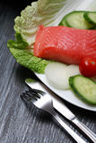 Trout And Vegetables Royalty Free Stock Photo