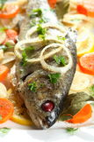 Trout in the vinegar Stock Photos