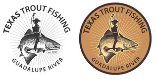Trout Wrangler Fish Rider Royalty Free Stock Image