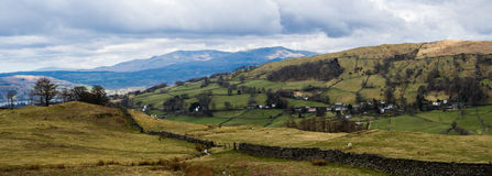 Troutbeck Valley Panorama Stock Image