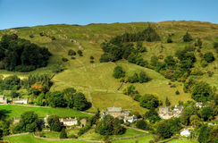 Troutbeck Village against a blue sky Royalty Free Stock Photo