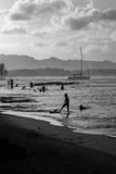 Trouvé en sable Photographie stock libre de droits