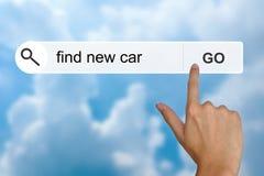 Trouvez la nouvelle voiture sur la barre porte-outils de recherche photo libre de droits