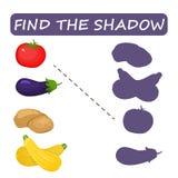 Trouvez la nuance droite du légume Pommes de terre de courgette de tomate illustration de vecteur