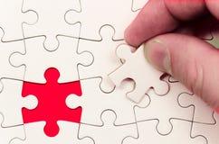 Trouvez la solution et comblez la lacune image stock