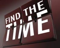 Trouvez le horodateur renverser des tuiles pour contrôler vos heures Image libre de droits
