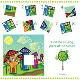Trouvez le morceau absent - déconcertez le jeu pour des enfants Photos libres de droits