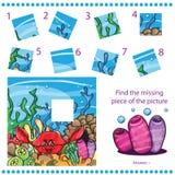 Trouvez le morceau absent - déconcertez le jeu pour des enfants Photo stock