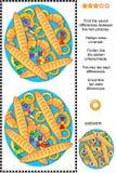 Trouvez le puzzle de photo de différences avec des pâtisseries Image libre de droits