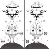 Trouvez les dix différences entre les deux photos 3 illustration de vecteur