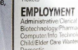Trouvez un travail Photo stock