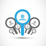 Trouvez un travail, concept de recherche d'un emploi Photos libres de droits