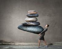 Trouvez votre équilibre intérieur image stock